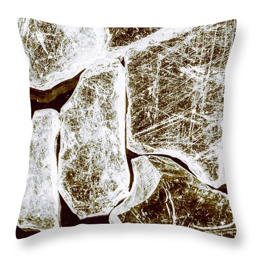 Damage Throw Pillow featuring the photograph Shattering Shards by Jorgo Photography - Wall Art Gallery