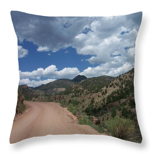 Shelf Road Throw Pillow featuring the photograph Shelf Road by Anita Burgermeister