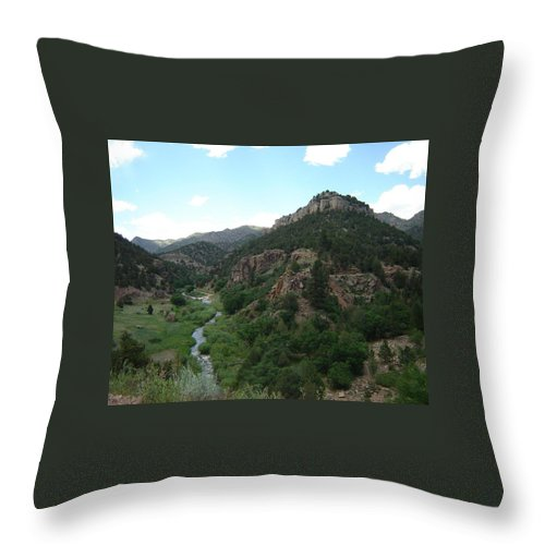 Shelf Road Throw Pillow featuring the photograph Shelf Road Vista by Anita Burgermeister