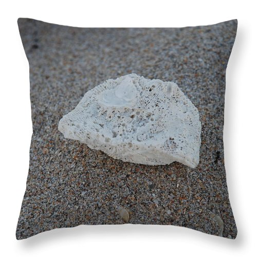 Shells Throw Pillow featuring the photograph Shell And Sand by Rob Hans