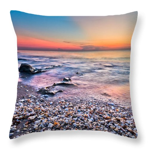 Palm Beach Throw Pillow featuring the photograph Shell City by Debra and Dave Vanderlaan