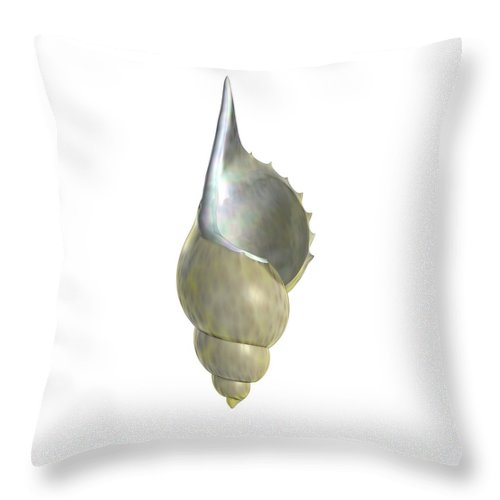 Shell Throw Pillow featuring the digital art Shell Script by Nathan Ryan