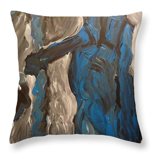 Shepherd Throw Pillow featuring the painting Shepherd by Joshua Redman