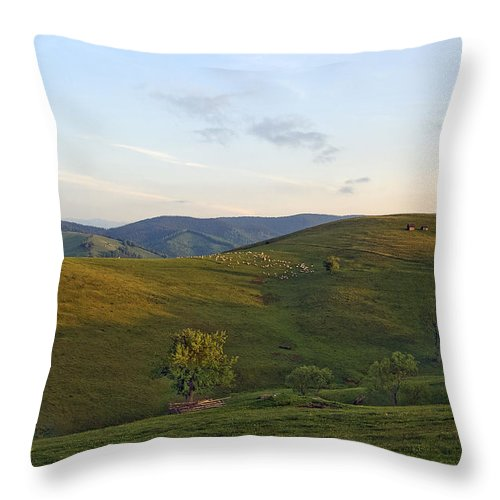 Shepherds Throw Pillow featuring the photograph Shepherds Mountain by Adrian Bud