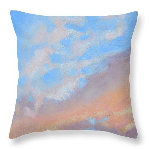 Oil Throw Pillow featuring the painting Poet's Sky by Mary Chant