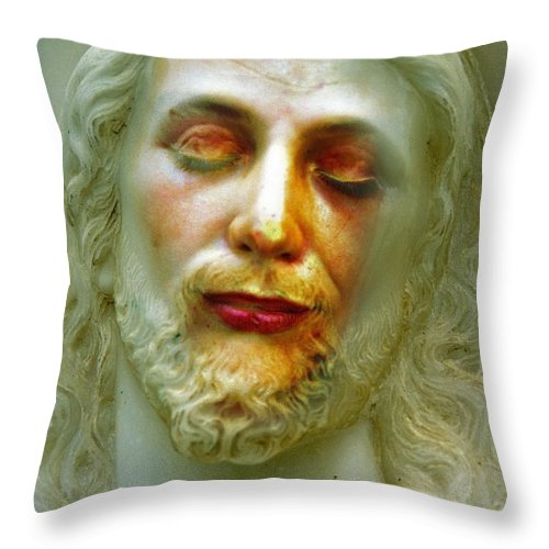 Jesus Throw Pillow featuring the photograph Shesus by Skip Hunt