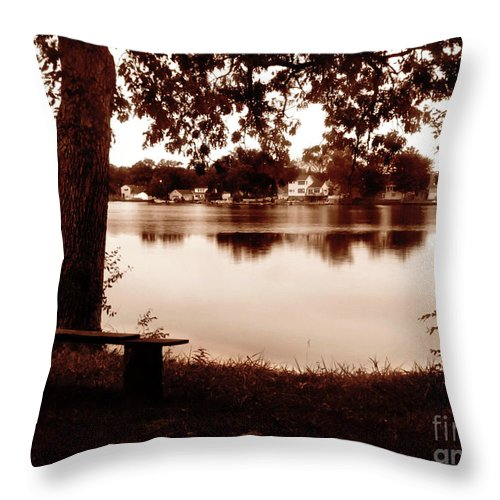 Sepia Throw Pillow featuring the photograph Shhh by September Stone
