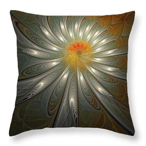 Digital Art Throw Pillow featuring the digital art Shimmer by Amanda Moore