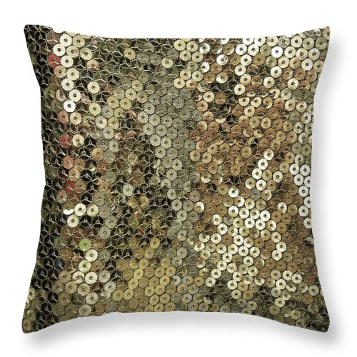 Silver Throw Pillow featuring the photograph Shimmer by Anna Villarreal Garbis