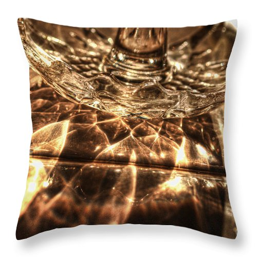 Shimmer Throw Pillow featuring the photograph Shimmer by Chris Fleming