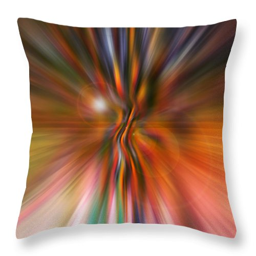 Abstract Art Throw Pillow featuring the digital art Shine On by Linda Sannuti