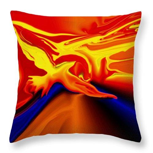 Bird Throw Pillow featuring the digital art Shine by Robin Monroe