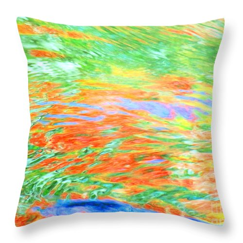Abstract Throw Pillow featuring the photograph Shine Through by Sybil Staples