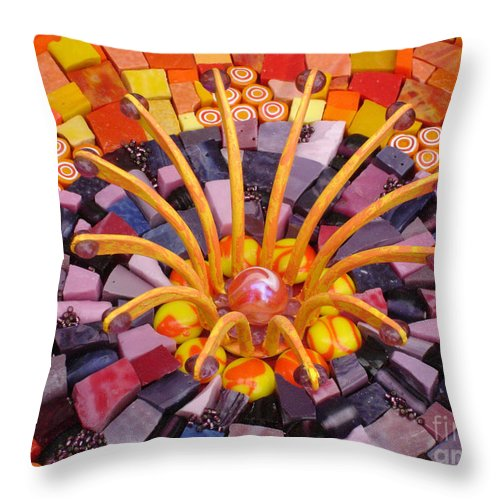 Orange Throw Pillow featuring the photograph Shining Through by Valerie Fuqua