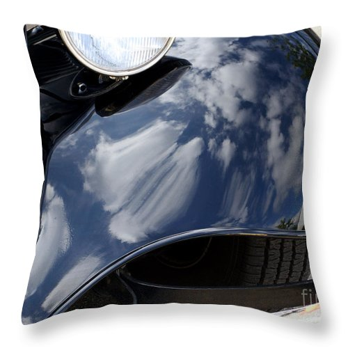 Antique Throw Pillow featuring the photograph Shiny Fender by Ann Horn