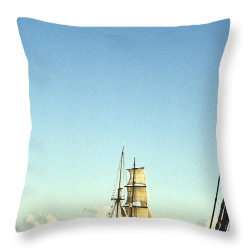 Ship Throw Pillow featuring the photograph Ship Off The Bow by Douglas Barnett