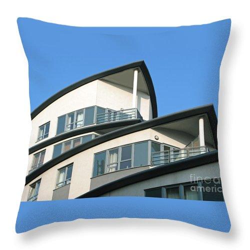 Condo Throw Pillow featuring the photograph Ship-shape by Ann Horn