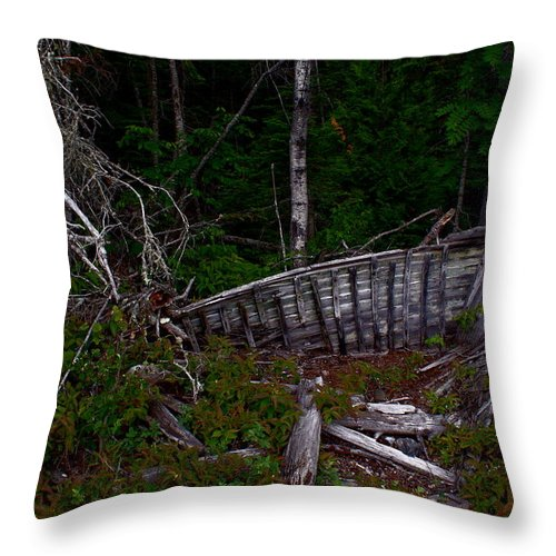 Boat Throw Pillow featuring the photograph Ship Wrecked by Joanne Smoley