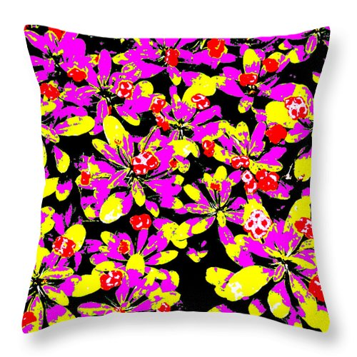 Square Throw Pillow featuring the digital art Shiraz by Eikoni Images