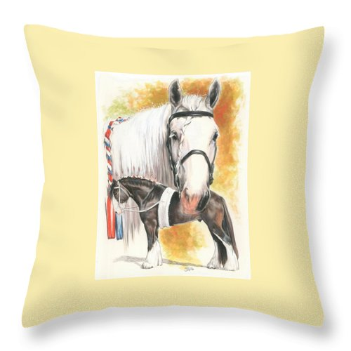 Shire Throw Pillow featuring the mixed media Shire by Barbara Keith