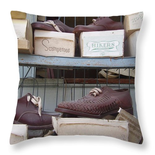 Shoes Throw Pillow featuring the photograph Shoes by Flavia Westerwelle