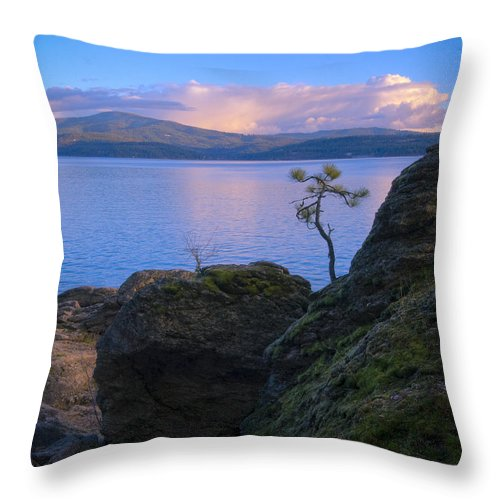 Tree Throw Pillow featuring the photograph Shore dance by Idaho Scenic Images Linda Lantzy