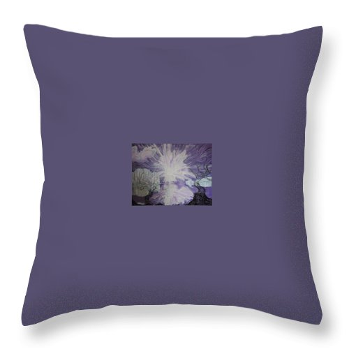 Squiggleism Throw Pillow featuring the painting Shore Dance by Stefan Duncan