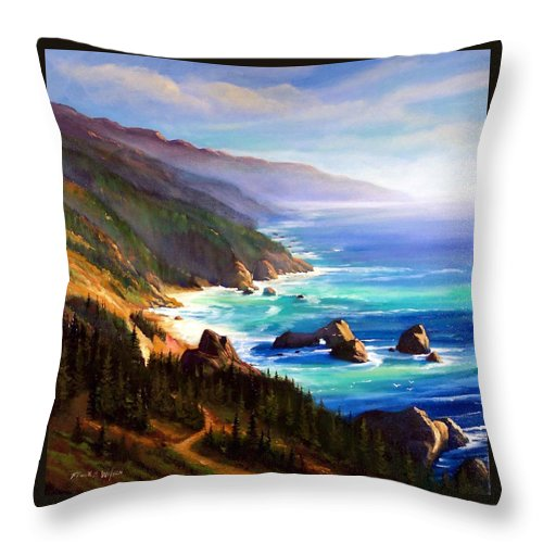 Shore Trail Throw Pillow featuring the painting Shore Trail by Frank Wilson