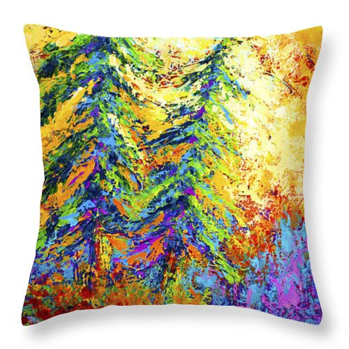 West Coastal Throw Pillow featuring the painting Shoreline Spirits by Marion Rose