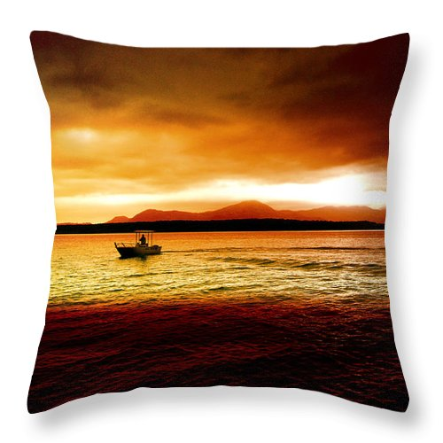 Landscape Throw Pillow featuring the photograph Shores Of The Soul by Holly Kempe