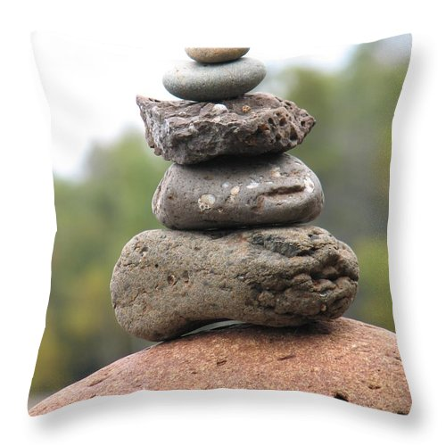 Rocks Throw Pillow featuring the photograph Short Stack by Kelly Mezzapelle