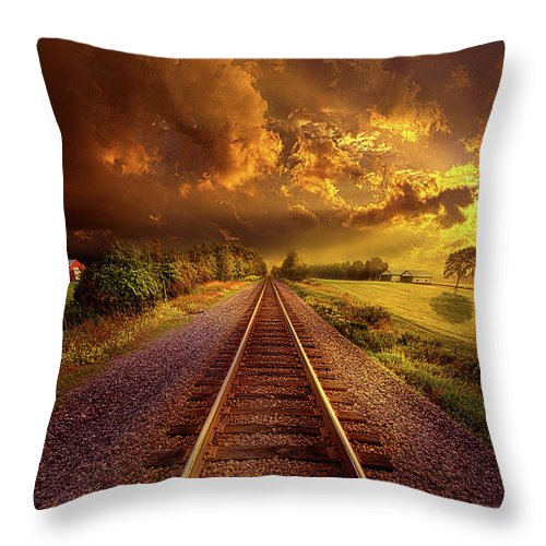 Lines Throw Pillow featuring the photograph Short Stories To Tell by Phil Koch