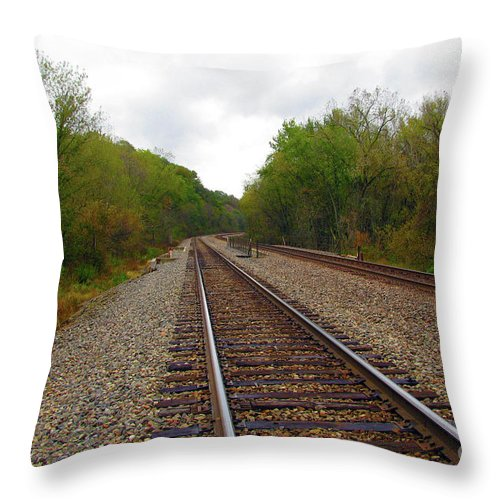 Ahead Throw Pillow featuring the photograph Shortest Distance by Alan Look