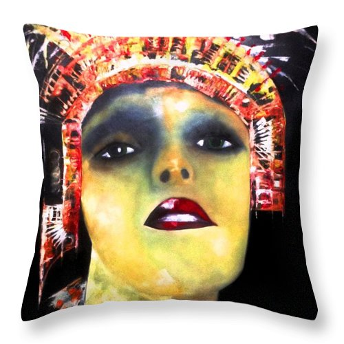 Truck Throw Pillow featuring the painting Show Girl Milly by Lord Frederick Lyle Morris - Disabled Veteran