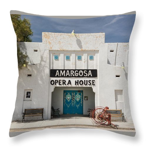 Amargosa Throw Pillow featuring the photograph Show Tonight Amargosa Opera House by Steve Gadomski