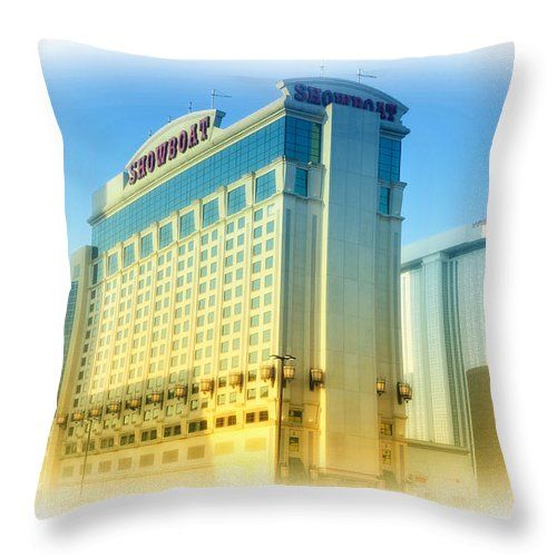 Showboat Throw Pillow featuring the photograph Showboat Casino - Atlantic City by Bill Cannon