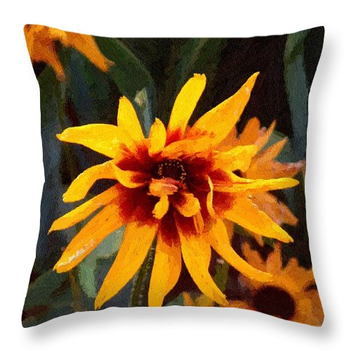 Brown Throw Pillow featuring the greeting card Showoff by RC DeWinter