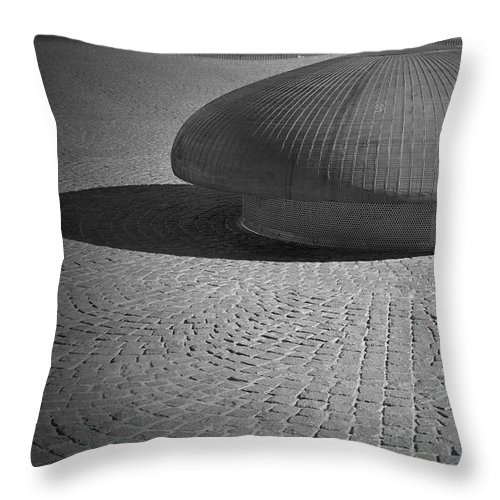 Mushroom Throw Pillow featuring the photograph Shrooming In Leipzig by Jost Houk