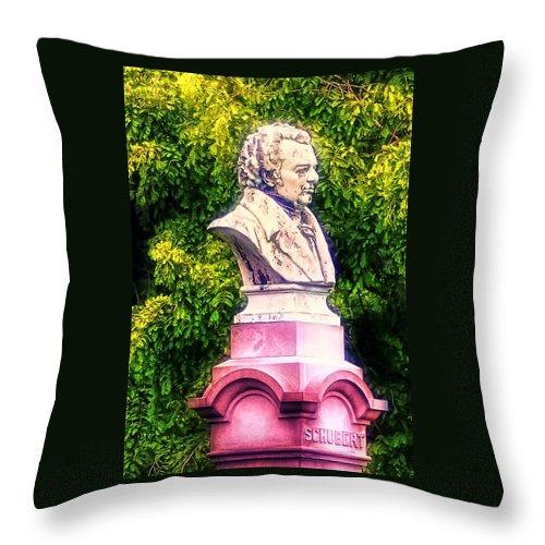 Shubert Throw Pillow featuring the photograph Shubert by Bill Cannon