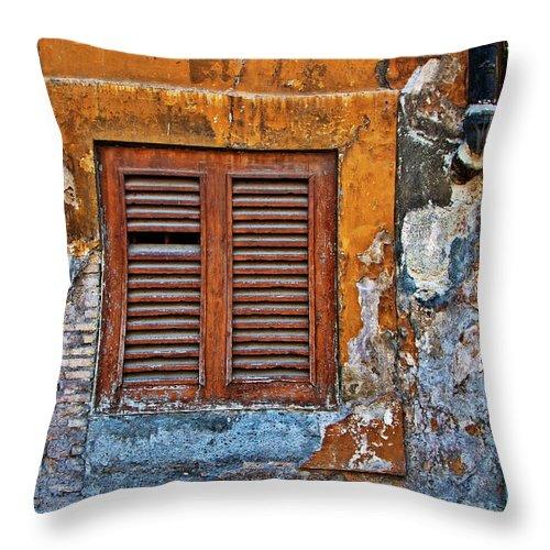 Shutter Throw Pillow featuring the photograph Shuttered by Harry Spitz