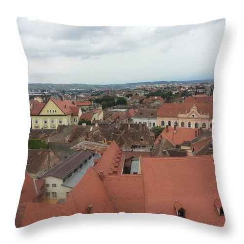 Throw Pillow featuring the photograph Sibiu 3 by Gabriel Gyorfi