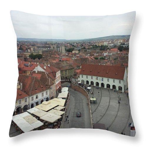 Throw Pillow featuring the photograph Sibiu by Gabriel Gyorfi