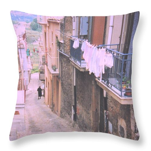 Sicily Throw Pillow featuring the photograph Sicily by Ian MacDonald