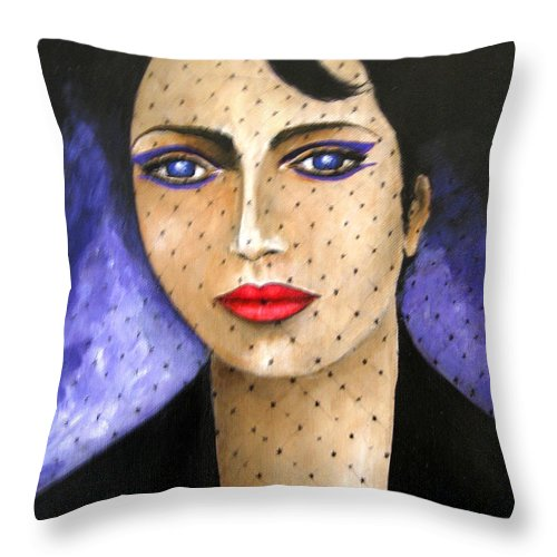 Portraits Throw Pillow featuring the painting Sicily by Leonardo Ruggieri