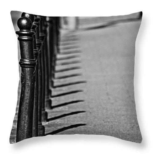 Sidewalk Throw Pillow featuring the photograph Sidewalk by Daniel Koglin