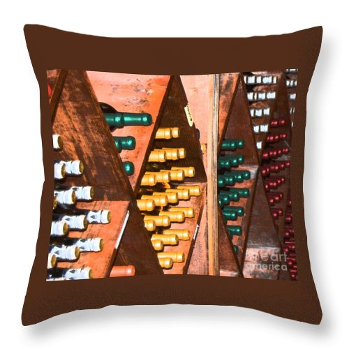 Wine Throw Pillow featuring the photograph Sideways by Debbi Granruth