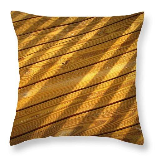 Boardwalk Throw Pillow featuring the photograph Sideways Sunshine by Mandy Shupp