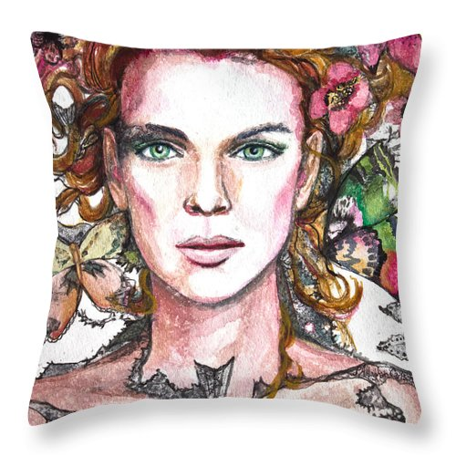 Art Throw Pillow featuring the painting Sidhe by Patricia Allingham Carlson