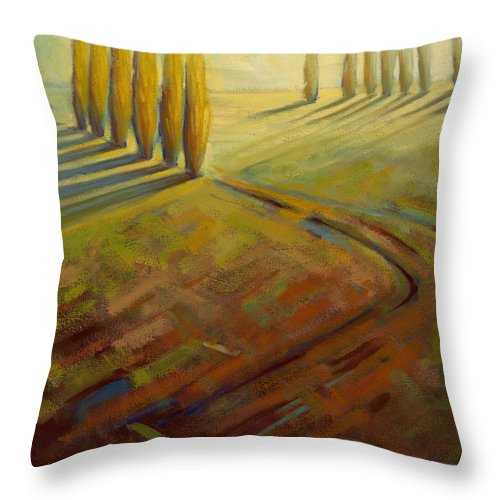 Landscape Throw Pillow featuring the painting Sienna by Konnie Kim