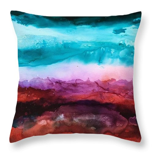Sierra Throw Pillow featuring the painting Sierra Summer by Shannon Grissom